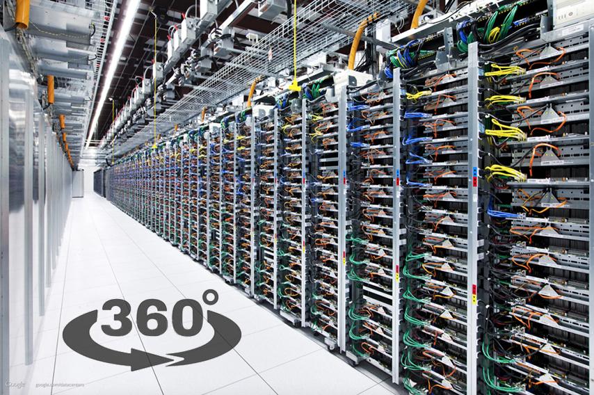 Google показал 360° видеотур своего дата-центра
