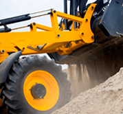 The company Mini-excavator - small construction machinery rental
